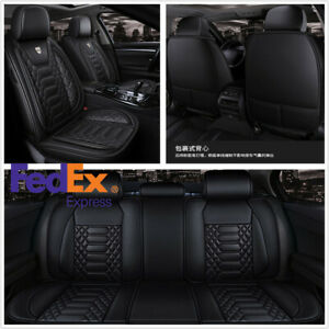 Brown Universal Front Row Car Seat Cover Pad Mat Chair Cushion Rhombus