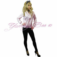 Fancy Dress Ladies Pink Jacket Outfit Hen 50s Party Womens Plus Size Girls Adult