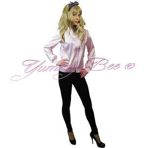 5332294c72 Fancy Dress Ladies Jacket Pink Hen 50s Party Womens Plus Size 6-18 + ...