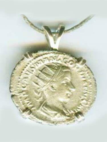 AD240 Silver Denari Roman Religion Teenage Emperor Gordian Sacrificing at Altar