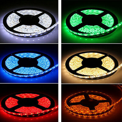 5M SMD 300LEDS 2835 3528 5050 5630 Non- Waterproof / Waterproof LED Strip 12V DC