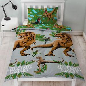 Jurassic-World-Jungle-Set-Housse-de-Couette-Simple-Dinosaures-Enfants