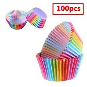 100pcs-Papier-Arc-En-Ciel-Gateau-Cupcake-Revetements-Cuisson-Muffin-Tasse-Etui
