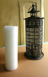 Candle-Holder-Metal-and-Glass-Lantern