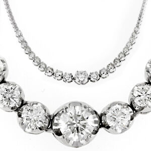 round half pin ct necklace tennis diamond graduated inch bezel