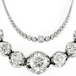 tiffany victoria platinum necklace co line diamond graduated