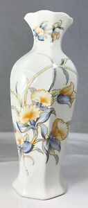 Aynsley-Just-Orchids-Vase-Porcelain-Floral-Fine-Bone-China-Made-in-England-9-034