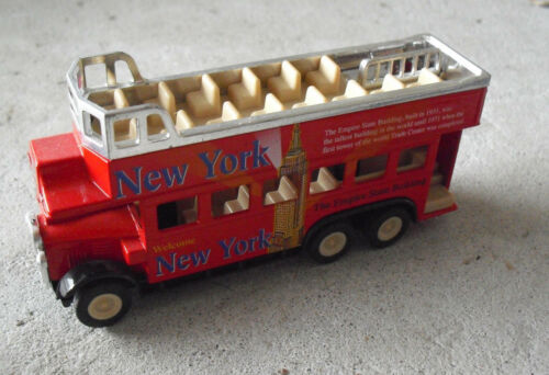 COOL Diecast SS New York Tourist Open Roof Bus LOOK