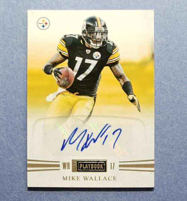 2011 Playbook, Mike Wallace, Steelers RC, Rookie Auto Autograph, #d 06/48