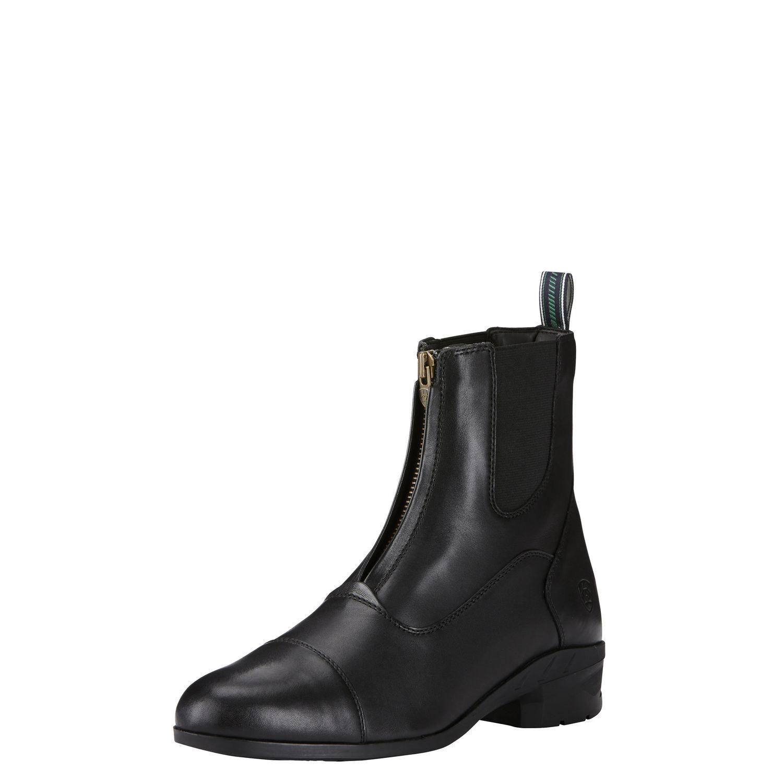 Nuevo Ariat para mujer Heritage IV Cremallera Paddock bota-negro, 6B