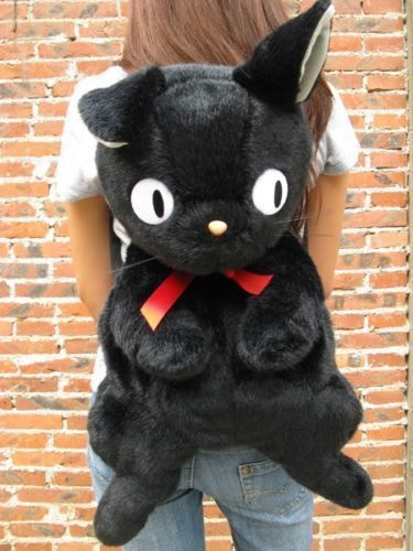 Jiji Studio kat Kiki's bezorgservice zwarte rugzak tas meisjes pluche Ghibli nwO0kX8P