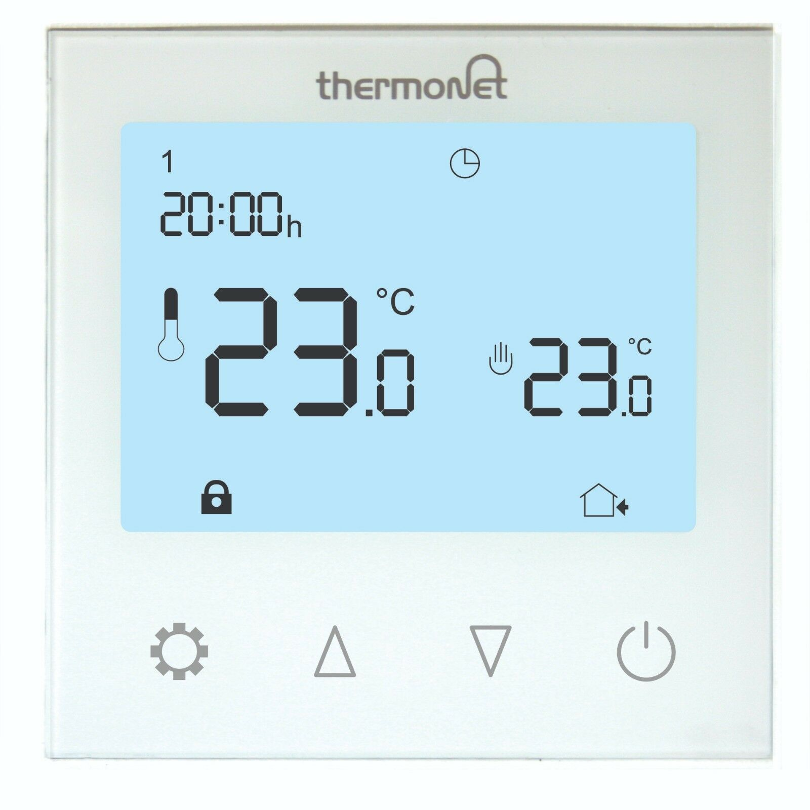 Thermotouch 5220 Programmable Underfloor Heating Thermostat, White ...
