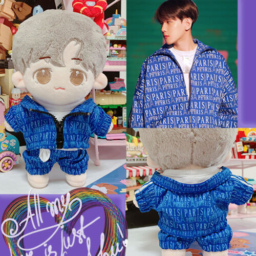 Hand-made Kpop Star Baekhyun Sehun Doll Clothes Sweat Suit Blue Cosplay Gift N