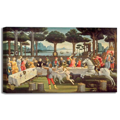 Botticelli Nastagio degli onesti 3 quadro stampa tela dipinto telaio arredo casa