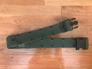 US-Military-OD-Nylon-Pistol-Individual-Equipment-Belt-Large-8465-01-322-1966