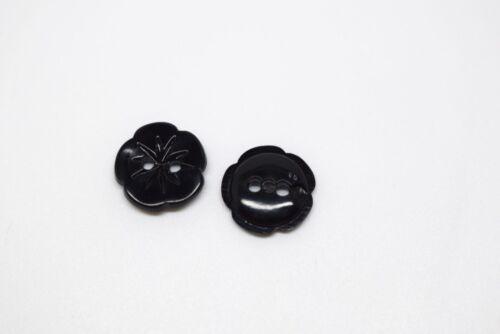 Pequeño Bebé Flor Plástico italiano Coser en los botones-Color Liso B676ny 12 mm 10 un