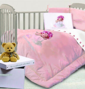 new product 1df4c 7a104 Dettagli su RIVIERA HOME COLLECTION BABY PARACOLPI/PIUMONE ROSA