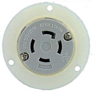 nema l14 30 30 amp 125 250v 3 pole 4 wire flanged outlet culus l14 30fo culus ebay