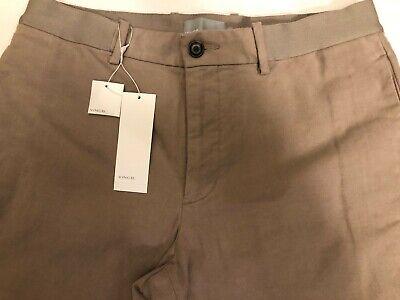 New Men $195 Vince Theory Stone Khaki Italy Fabric Pants size 32 M54262539 Saks