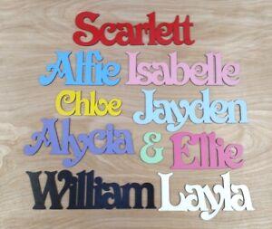 Personalised Wooden Name Plaques Door Sign or Bedroom Door name Letters #221