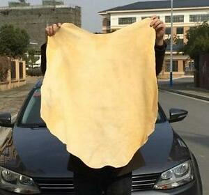 50x70cm Natural Chamois Car Cleaning Leather Cloth Washing Suede Absorbent Towel