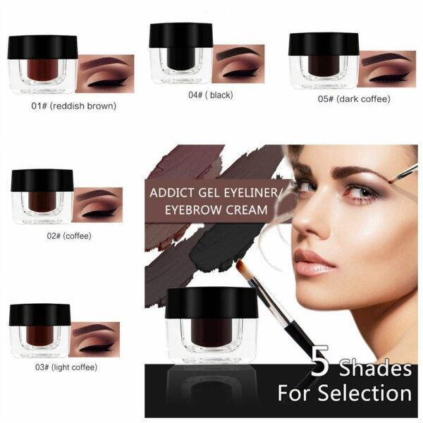 Waterproof Eyebrow Definition Cream Eye Brow Gel Brush