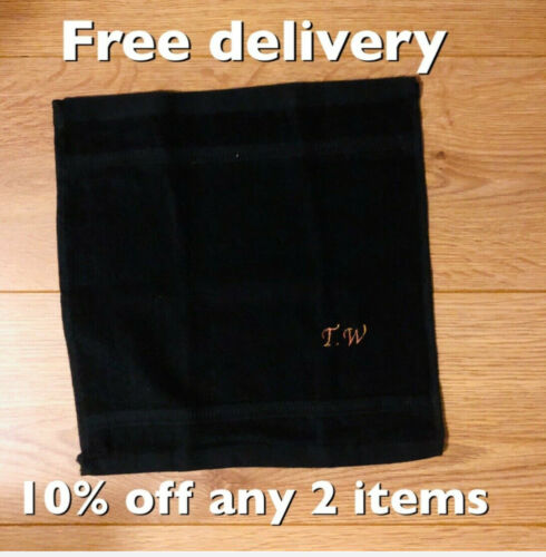Hand Bath Towels gift colour choice Personalised initials embroidery Face