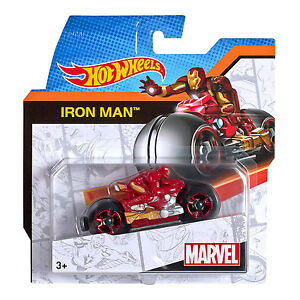 Hot-Wheels-Moto-con-Rider-de-Marvel-Iron-Man-Motocicleta