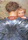 Knight Carrying Child Greeting Card 6 Cards Individually Bagged With Envelopes