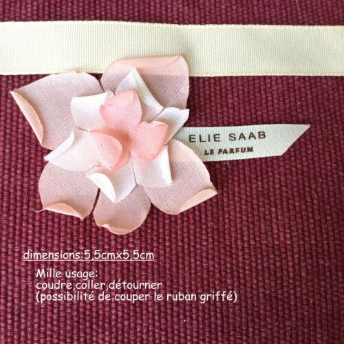 25 fleursFleurs tissu griffées Elie Saab à parfumer//coudre à détourner sachet