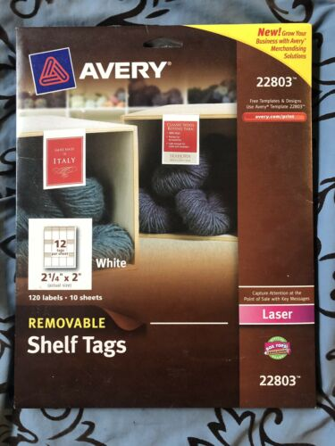 Avery Printable Shelf Tags 2 1//4 x 2 Inches Pack of 120-10 Pages Model 22803