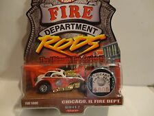 Hot Wheels Fire Department Rods Chicago IL. Fiat 500C w/Real Riders
