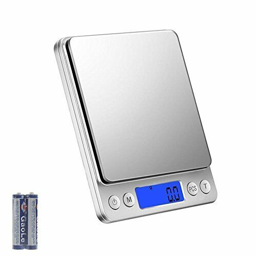 3kg x 0.1g Bilancia Pesapersone Professionale B... Bilancia da Cucina Digitale