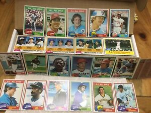 1981 topps baseball cards complete set NM/MT