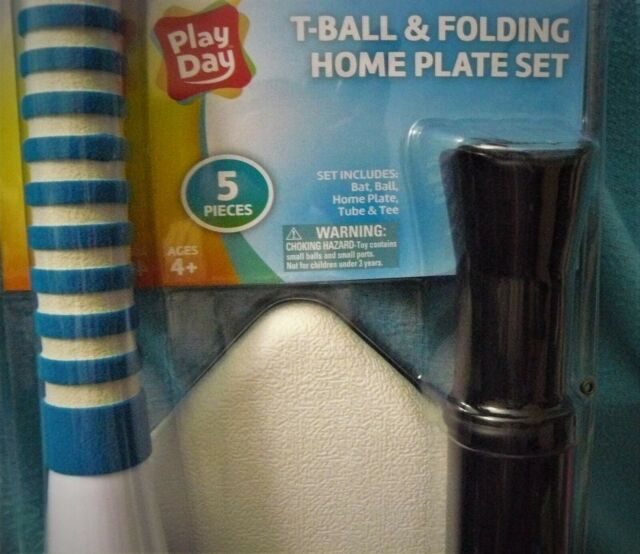 3 Colors NEW Ages 5 Play Day T-Ball Set Bat//Ball//Batting Tee//Home Plate Combo