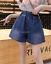 Womens Denim High Waisted Wide Leg Casual Loose Jeans Shorts Plus Size Hot Pants