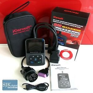 iCarsoft I910 OBD2 Diagnosegerät für BMW Mini deutsch ABS Airbag Getriebe ++