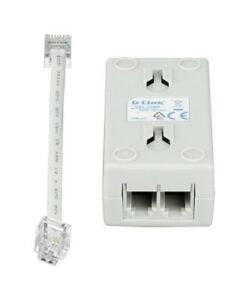 D-Link-ADSL-2-2-Broadband-Splitter-In-Line-Filter-Phone-Modem-Free-Shipping