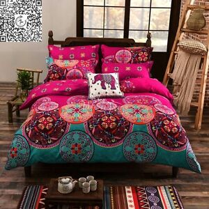 Mandala-Bohemian-Quilt-Duvet-Doona-Cover-Set-Oriental-Queen-King-Single-Size-Bed