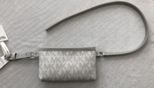 bd05d02909ff Michael Kors MK Vanilla Signature Logo Belt Wallet Large Waist Pouch ...