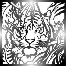 Dxf Cdr Of Plasma Laser Amp Router Cut Cnc Tiger Panel Art