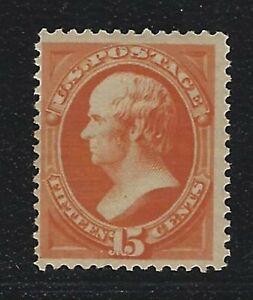 1879-U-S-Scott-189-15c-Daniel-Webster-Bank-Note-Stamp-MNH