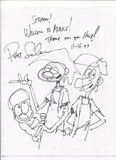 Peter Sinclair Hand Signed Sketch Autographed Drawing Alex's Restaurant