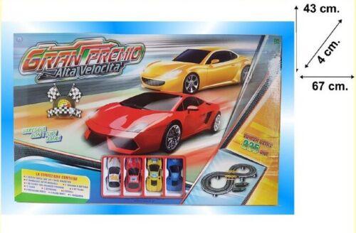 4 Macchinine Gioco Giocattolo Bambini sar Gran Premio Alta Velocità Pista