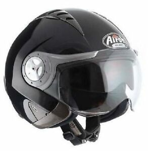 Helmet Jet Airoh Tr Jet Sport Shiny Black Motorcycle Scooter Offer