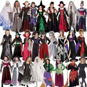 Girls-Witch-Zombie-Bride-Vampiress-Gothic-Ghost-Halloween-Fancy-Dress-Costume