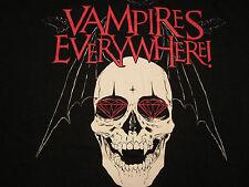 Vampires Everywhere Skull With Wings Bats, 100% Cotton, Short Sleeve Shirt MED