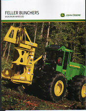 John Deere Logging Timber Forestry 643K & 843K Wheeled Feller Buncher Brochure