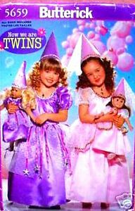 """Reduced! B 5659 """"Now We Are Twins"""" Princess & Doll Gown Pattern"""