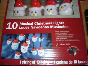 Musical Christmas Lights.Details About Musical Christmas Lights Santa